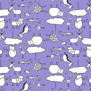 Mini Doodle Safari- Purple