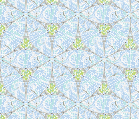 eiffel flower fabric by jorz on Spoonflower - custom fabric