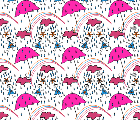 rain_girls_new_colors_tilev2-01 fabric by cht222 on Spoonflower - custom fabric
