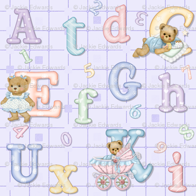 Teddy Tots Alphabet - Lavender