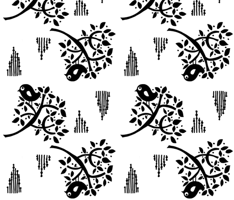 ROYAL_SPARROW fabric by gitte_strØm_thomsen on Spoonflower - custom fabric