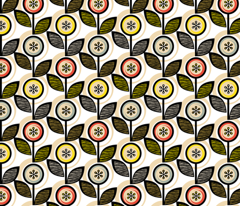 Footnote Flower fabric by pennycandy on Spoonflower - custom fabric