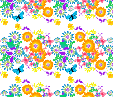 Field of flowers fabric by joanmclemore on Spoonflower - custom fabric