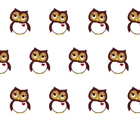 Whoo Loves You fabric by velourvelvet on Spoonflower - custom fabric