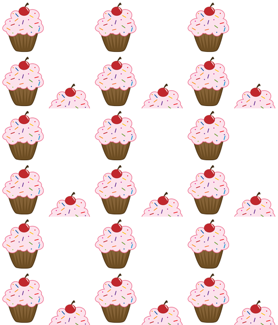 Sprinkle Cupcake fabric by velourvelvet on Spoonflower - custom fabric