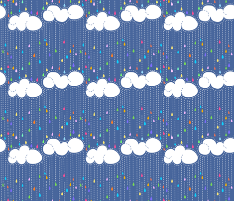 Rainbow Rain fabric by vo_aka_virginiao on Spoonflower - custom fabric