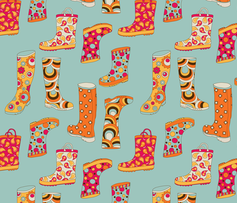 Rainboots in NYC fabric by deesignor on Spoonflower - custom fabric