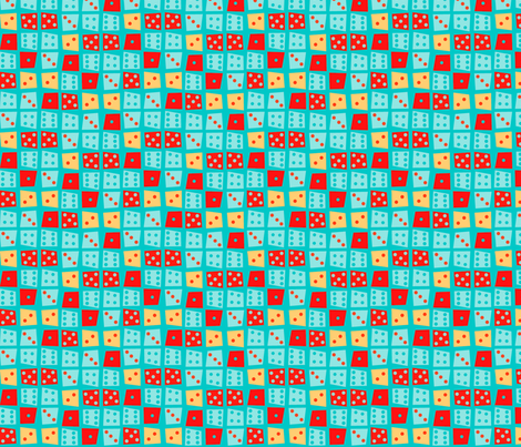 Viva Las Vegas Dice fabric by acbeilke on Spoonflower - custom fabric