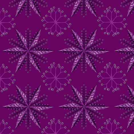 © 2011  Nordic Amethyst fabric by glimmericks on Spoonflower - custom fabric