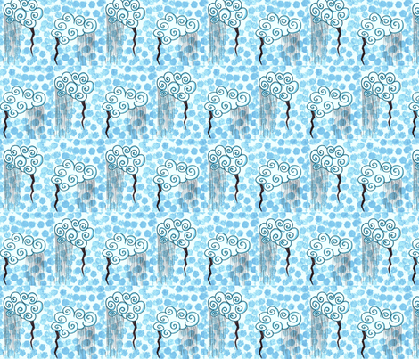 Rain fabric by lehua on Spoonflower - custom fabric