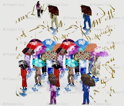 Chinese Grandmas in the rain