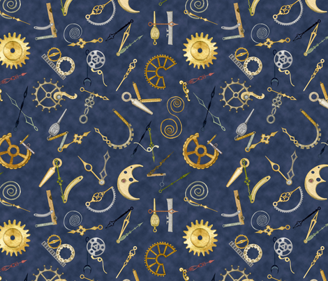 The Watchmaker's ABC fabric by nicoletamarin on Spoonflower - custom fabric