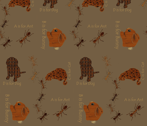Alpha_ants fabric by kaerushisho on Spoonflower - custom fabric