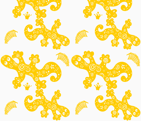 HAPPY GECKOS fabric by gitte_strØm_thomsen on Spoonflower - custom fabric