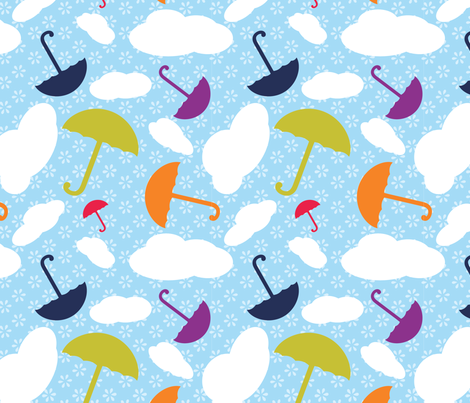 binkiebo_Raindrops2 fabric by kristinschneider on Spoonflower - custom fabric