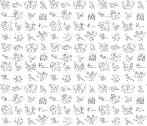 Mock Smock Embroidery Large fabric by varju on Spoonflower - custom fabric