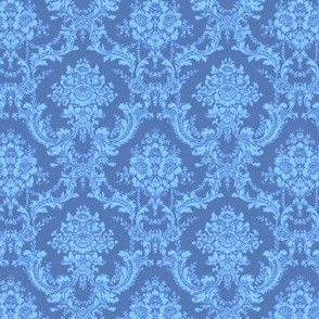China Blue Damask-Toile