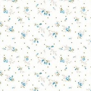 Tiny blue floral