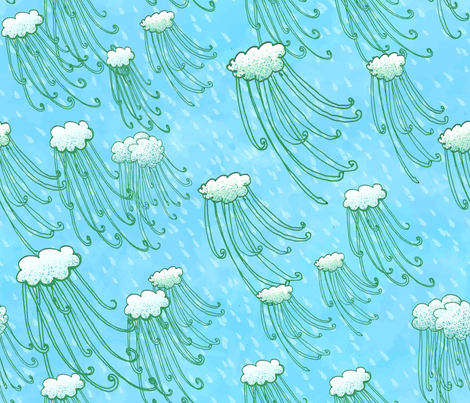 rainstorm_on_a_blue_day fabric by kelceyloomer on Spoonflower - custom fabric