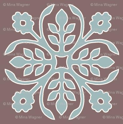 COCOA-BROWN_Papercut2-Rose_soft-aqua_cream_outlines