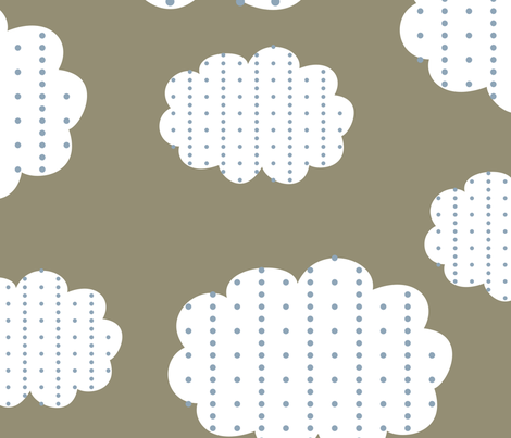 Clouds for My Little Pilots  fabric by melissarobertson on Spoonflower - custom fabric