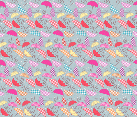 Breezy Brollies fabric by kezia on Spoonflower - custom fabric