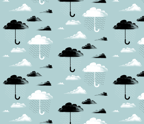 April Shower fabric by hitz on Spoonflower - custom fabric