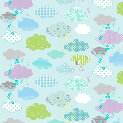 april_showers fabric by katarina on Spoonflower - custom fabric