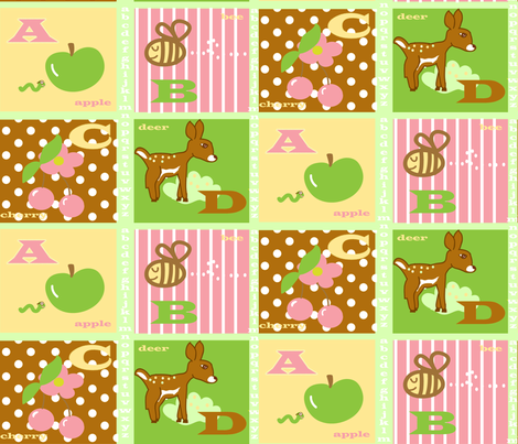 ABC's of Spring fabric by fabricfarmer_by_jill_bull on Spoonflower - custom fabric