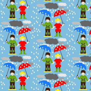 HeimatKinder Girl and Boy in Rain