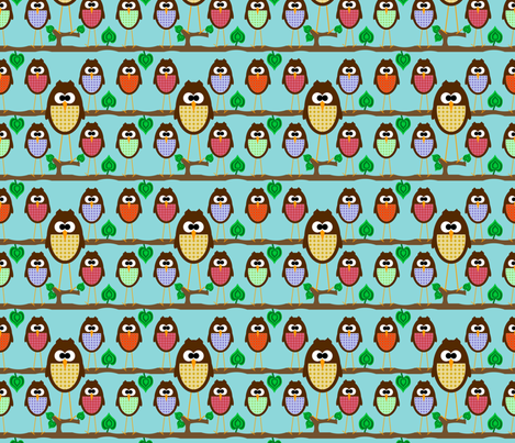 Hoot fabric by saraelizabeth on Spoonflower - custom fabric