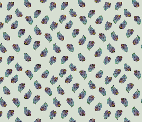Peacock Feather Parade fabric by brandymiller on Spoonflower - custom fabric