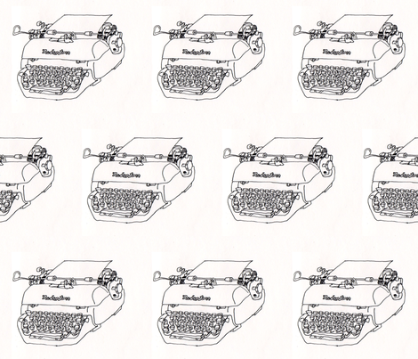 Redington typewriter fabric by *erinred* on Spoonflower - custom fabric
