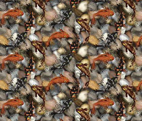 fish pond in rain fabric by thatswho on Spoonflower - custom fabric