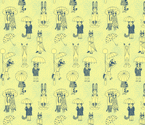 Rainy day fabric by lukaluka on Spoonflower - custom fabric