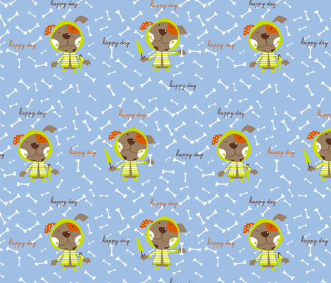 PERRO_LLUVIA fabric by marikilla_turuete on Spoonflower - custom fabric