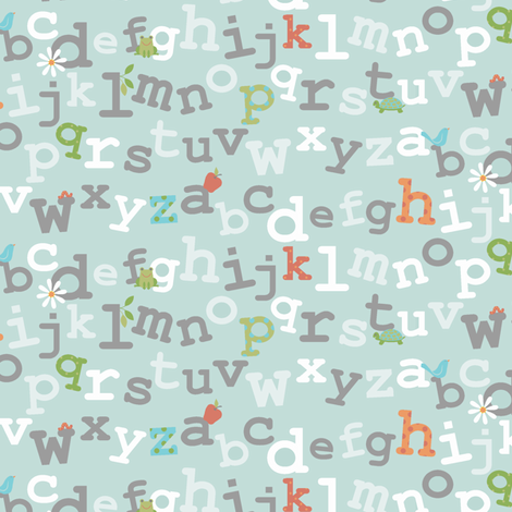the abc's fabric by littlerhodydesign on Spoonflower - custom fabric