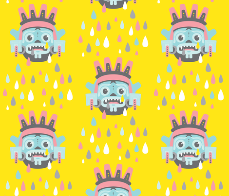 When the rain gods cry LARGE SCALE fabric by zesti on Spoonflower - custom fabric