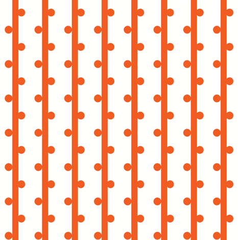grab your pompoms (orange) ©2012 Jill Bull fabric by palmrowprints on Spoonflower - custom fabric
