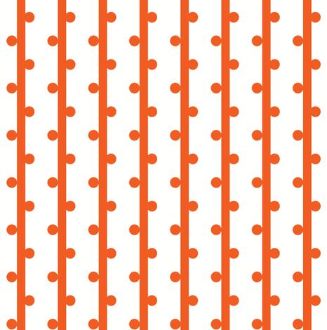 grab your pompoms (orange) ©2012 Jill Bull fabric by fabricfarmer_by_jill_bull on Spoonflower - custom fabric