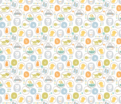 giggleboy print fabric by amel24 on Spoonflower - custom fabric