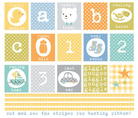 giggleboy bunting fabric by amel24 on Spoonflower - custom fabric