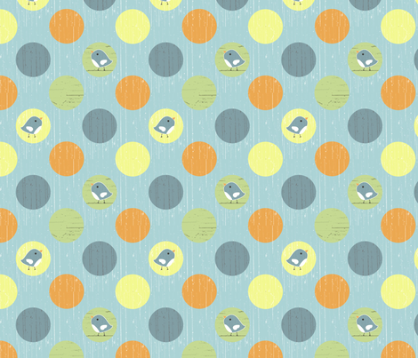 country gathering dot blue fabric by christiem on Spoonflower - custom fabric