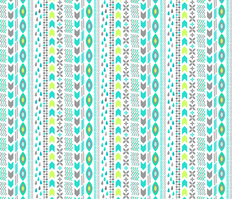 Geometric Rain Stripe fabric by my_zoetrope on Spoonflower - custom fabric