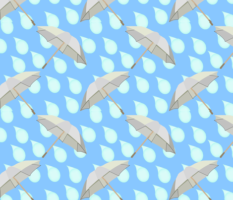 Rain fabric by brandymiller on Spoonflower - custom fabric