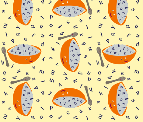 Alphabet Soup fabric by featheredneststudio on Spoonflower - custom fabric