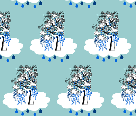 rain tree fabric by uzumakijo on Spoonflower - custom fabric