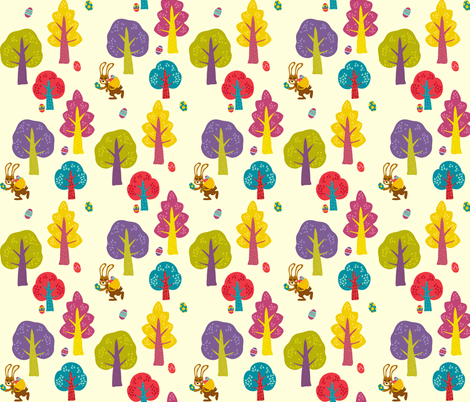 Easter forest fabric by irrimiri on Spoonflower - custom fabric