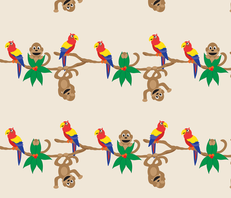 Peek A Boo Rainforest fabric by jenniferfranklin on Spoonflower - custom fabric