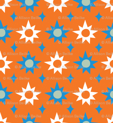 Big & Bright Stars - orange